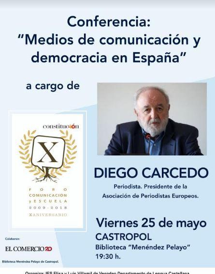 Conferencia de Diego Carcedo en Castropol