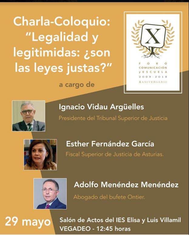 Conferencia sobre justicia en el Instituto