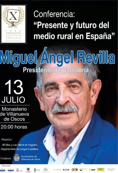 Conferencia del presidente de Cantabria