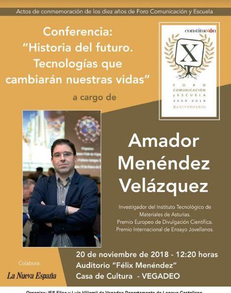 Conferencia del investigador, Amador Menéndez