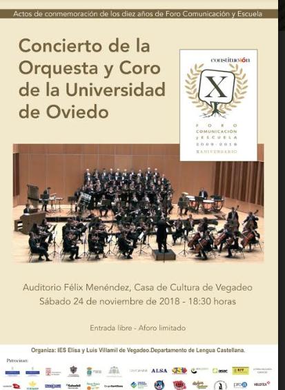 Concierto de la Orquesta y Coro de la Universidad de Oviedo