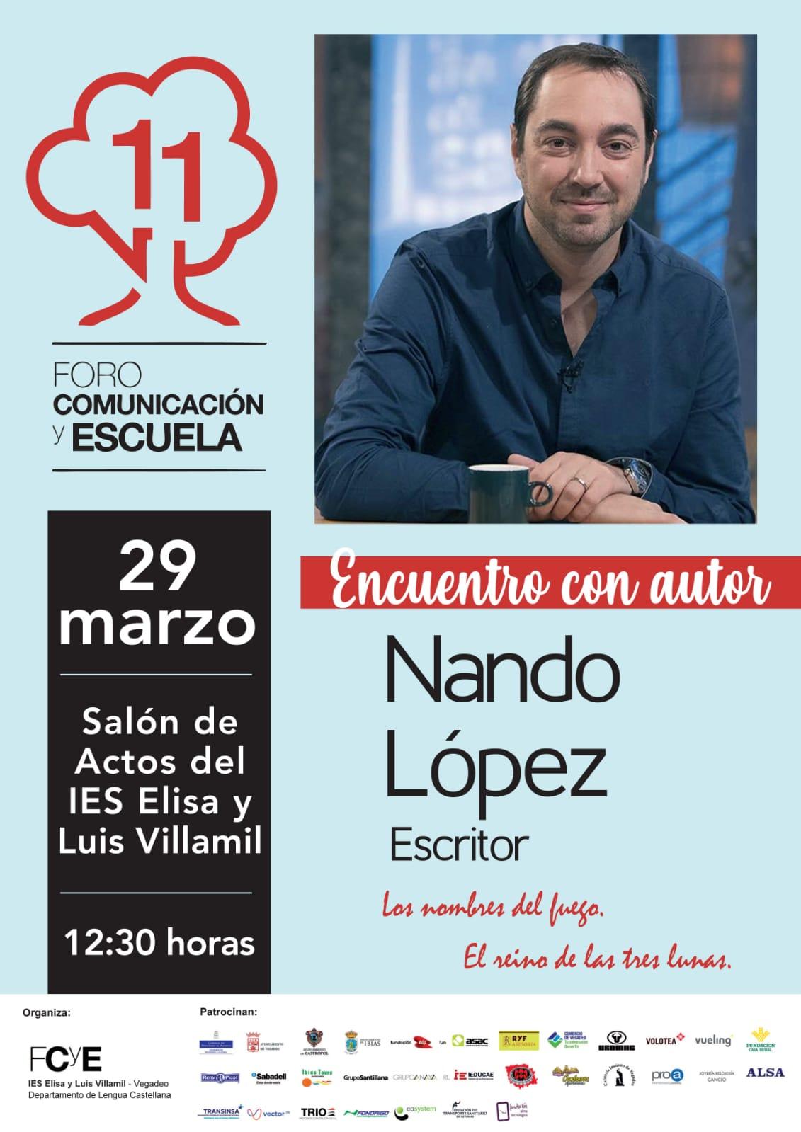 Encuentro literario con el escritor Nando López