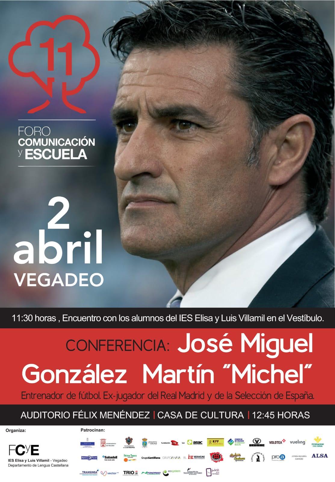 El entrenador y ex futbolista,  Míchel, imparte la primera conferencia del XI Foro