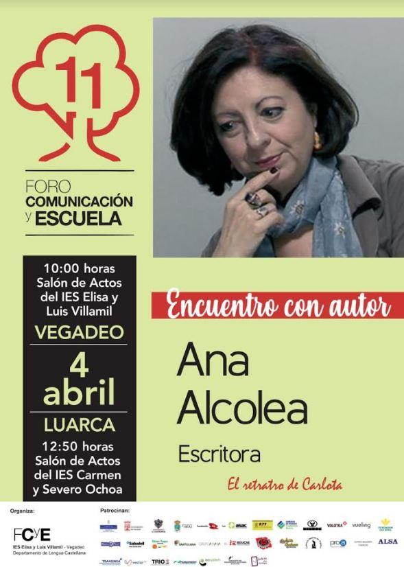 La escritora, Ana Alcolea, en Luarca y Vegadeo