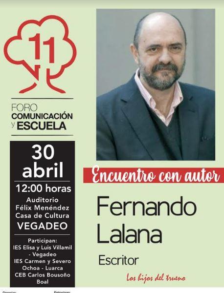 Encuentro literario con el escritor Fernando Lalana