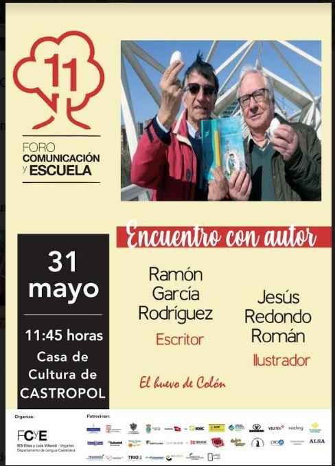 Acto literario de Ramón García y Jesús Redondo en Castropol