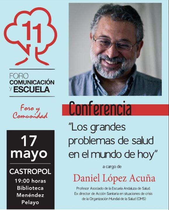 Conferencia del profesor, Daniel López Acuña