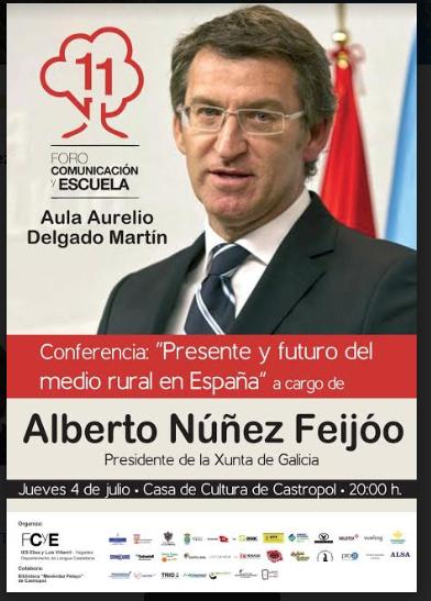 Conferencia del presidente del Gobierno de Galicia