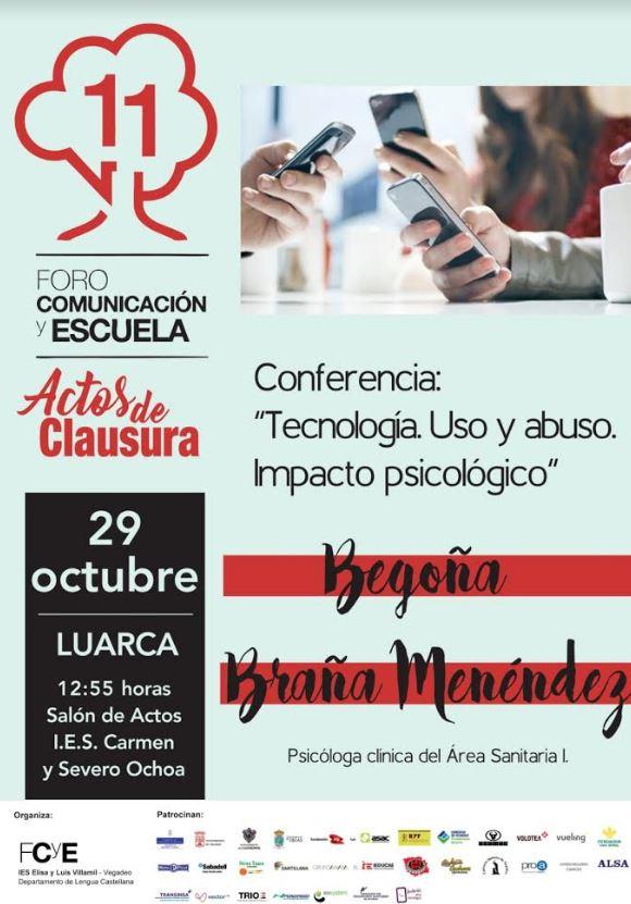 Conferencia de la psicóloga, Begoña Braña, en el instituto de Luarca