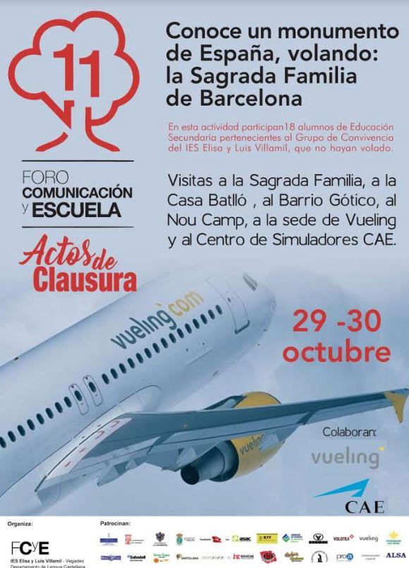 Nos vamos con Vueling a Barcelona. Los alumnos conocerán, entre otros, el Centro de Simuladores de Vuelo CAE