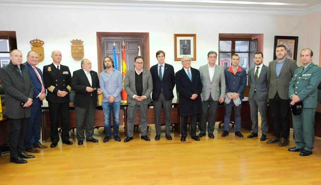 Recepción institucional en el Ayuntamiento de Vegadeo