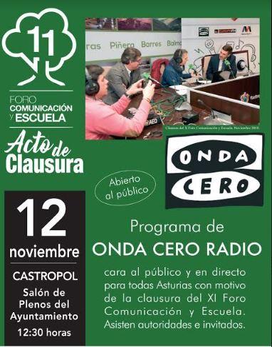 Onda Cero Radio emitirá su programa autonómico desde Castropol